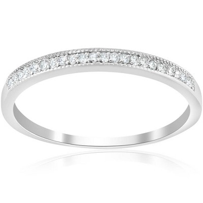 Pompeii3 1/8ct Diamond Wedding Ring 10K White Gold