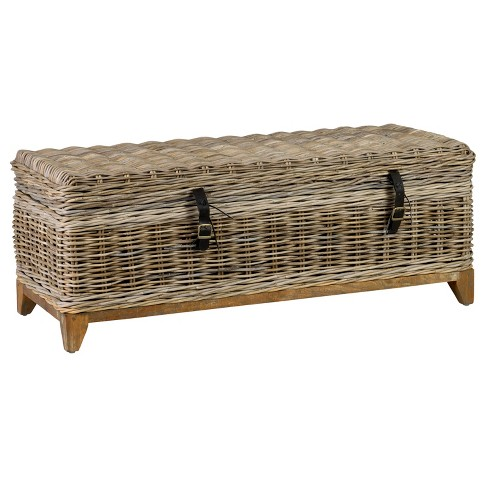 Kai Rattan Coffee Table Gray - East At Main - image 1 of 5