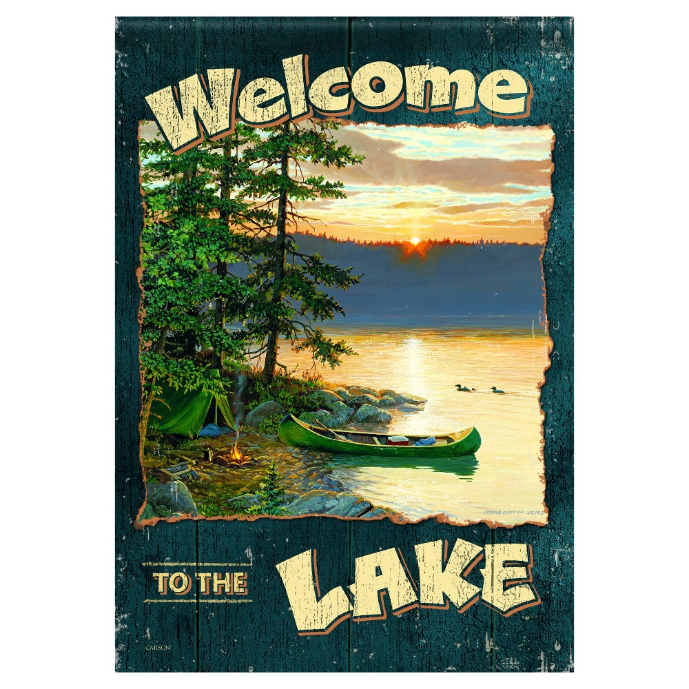 "Image of ""13""""x18"""" The Lake Garden Flag - Carson, Multi-Colored"""