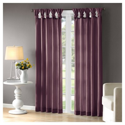 Lillian Twisted Tab Light Filtering Lined Curtain Panel