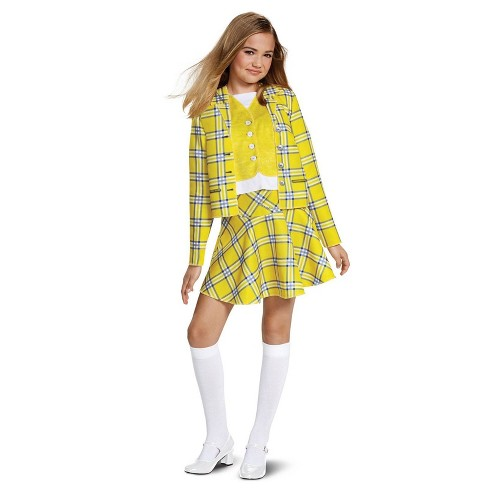 Clueless Girls' Cher Classic Yellow Suit Halloween Costume - Disguise