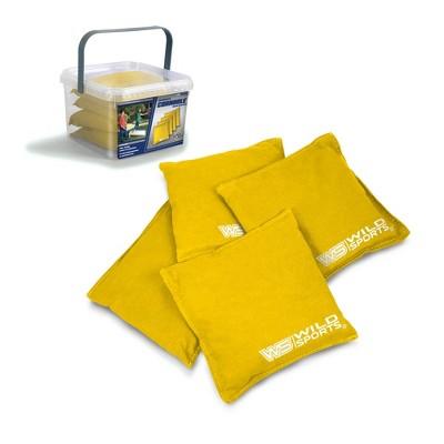 Wild Sports Authentic Cornhole 16oz Bean Bag Set 4pk - Yellow