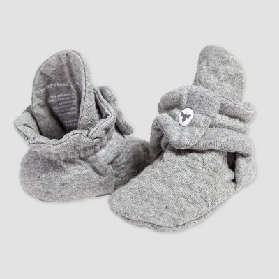Burt's Bees Baby® Baby Organic Cotton Quilted Bee Bootie - Gray 0-3M