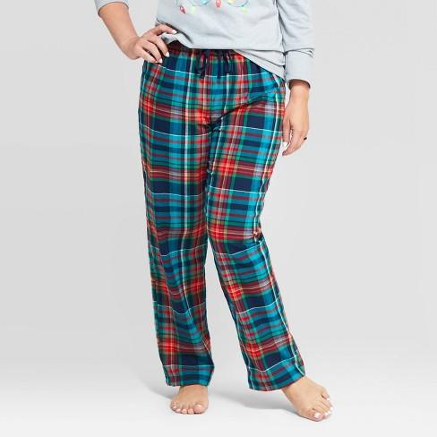 Women's Holiday Tartan Plaid Flannel Pajama Pants - Wondershop™ Blue - image 1 of 2