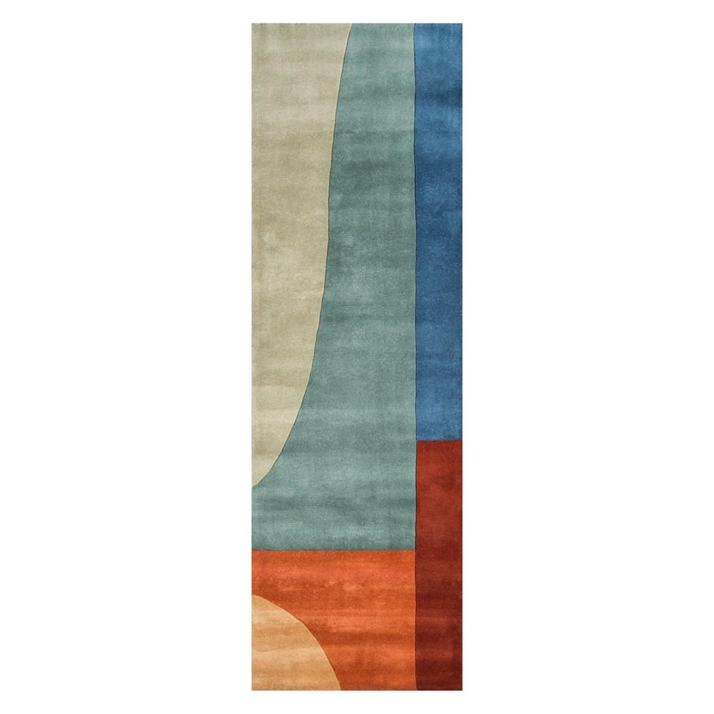 2'6X12' Geometric Tufted Runner - Momeni, Multi-Colored
