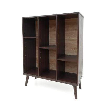 "38.20"" Felicia Mid Century Bookshelf Walnut - Christopher Knight Home"