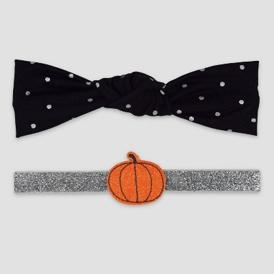 Baby Girls' 2pk Pumpkin Headwrap - Just One You® made by carter's Orange