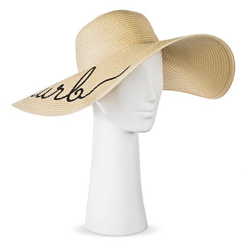 "Women's Floppy ""Do Not Disturb"" Floppy Hat - Tan - image 1 of 2"