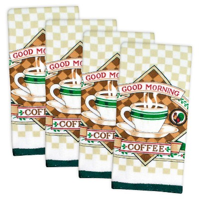 Essential Terry Coffee Dishtowels Set Of 4 - Design Imports