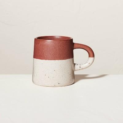 18oz Dipped Stoneware Mug Speckled Cinnamon - Hearth & Hand™ with Magnolia