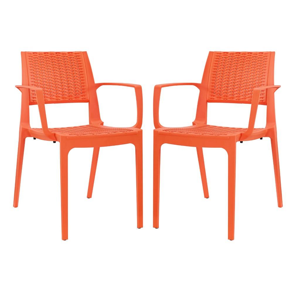 Astute Dining Set Set of 2 Orange - Modway