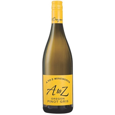A To Z Pinot Gris White Wine - 750ml Bottle