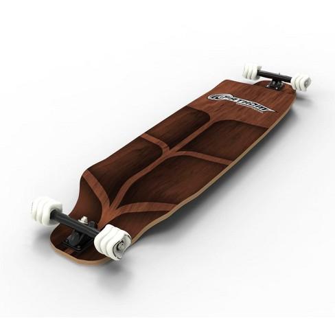 Shark Wheel Fathom By Shark Wheel Long Drop Roam Longboard Skateboard Complete Kit, Brown - image 1 of 3