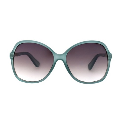 Women's Smoke Sunglasses - A New Day™ Crystal Aqua - image 1 of 2