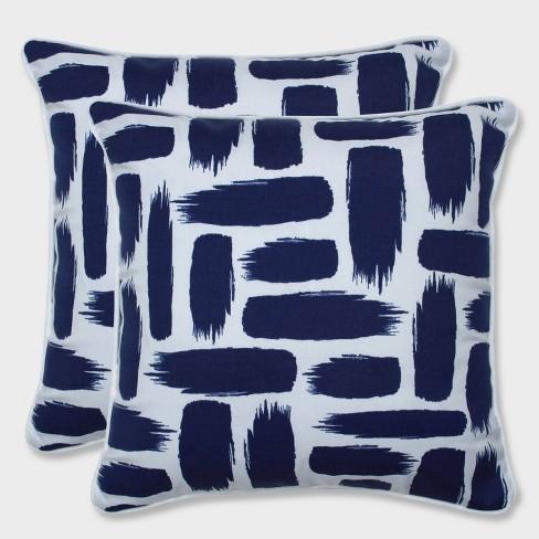 """16.5"""" 2pk Baja Nautical Throw Pillows Blue - Pillow Perfect - image 1 of 1"""