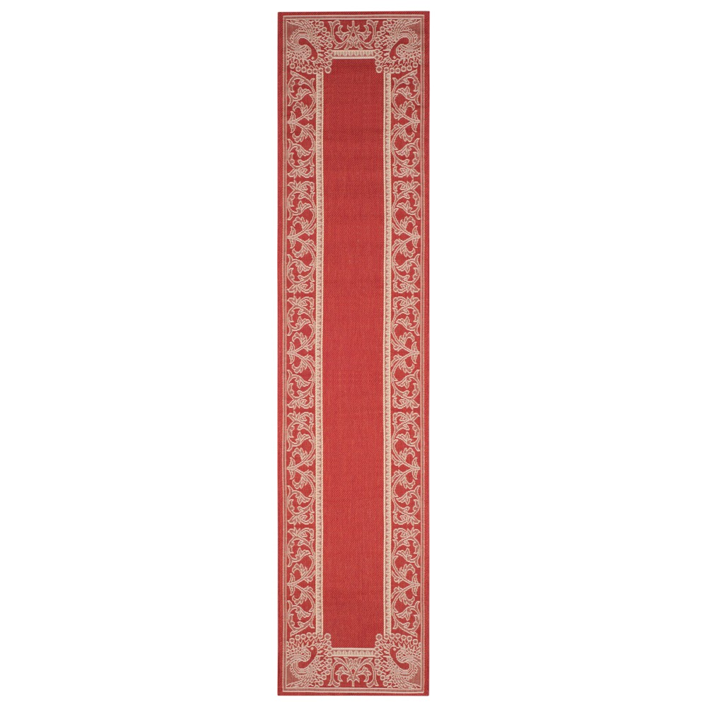 Outdoor Patio Rug Red Natural Safavieh