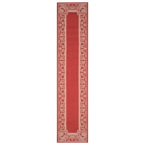 Bradford Outdoor Rug - Red / Natural - Safavieh® - image 1 of 3