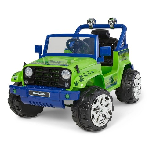 Kid Trax 6V Dino Tracker 4x4 Powered Ride-On - Green - image 1 of 4