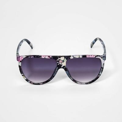 Girls' Shield Floral Sunglasses - art class™ Black