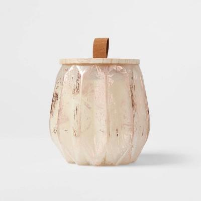 15oz Acorn Glass Jar with Wooden Wick Vanilla Pumpkin Candle - Threshold™
