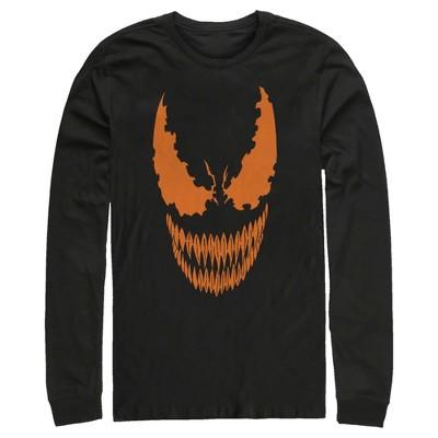 Men's Marvel Halloween Venom Scary Face Costume Long Sleeve Shirt