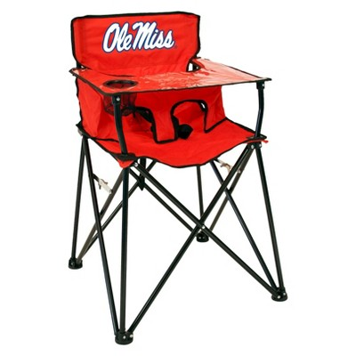 NCAA Mississippi Ole Miss Rebels Portable High Chair in Red