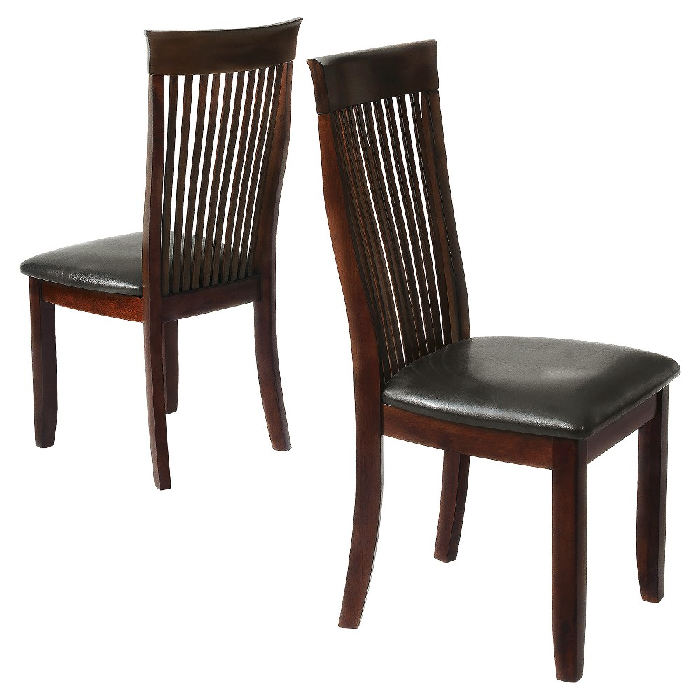 Nassau Dining Chair - Black (Set of 2) - Inspire Q, Burnt Red Opaque
