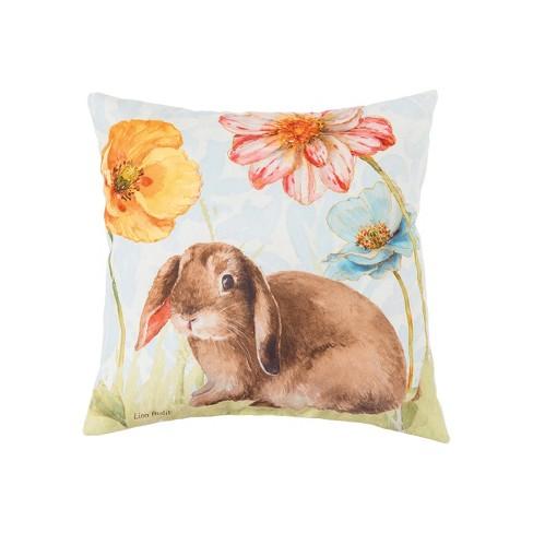 C F Home Floppy Ear Bunny Spring Easter Indoor Outdoor Pillow Target