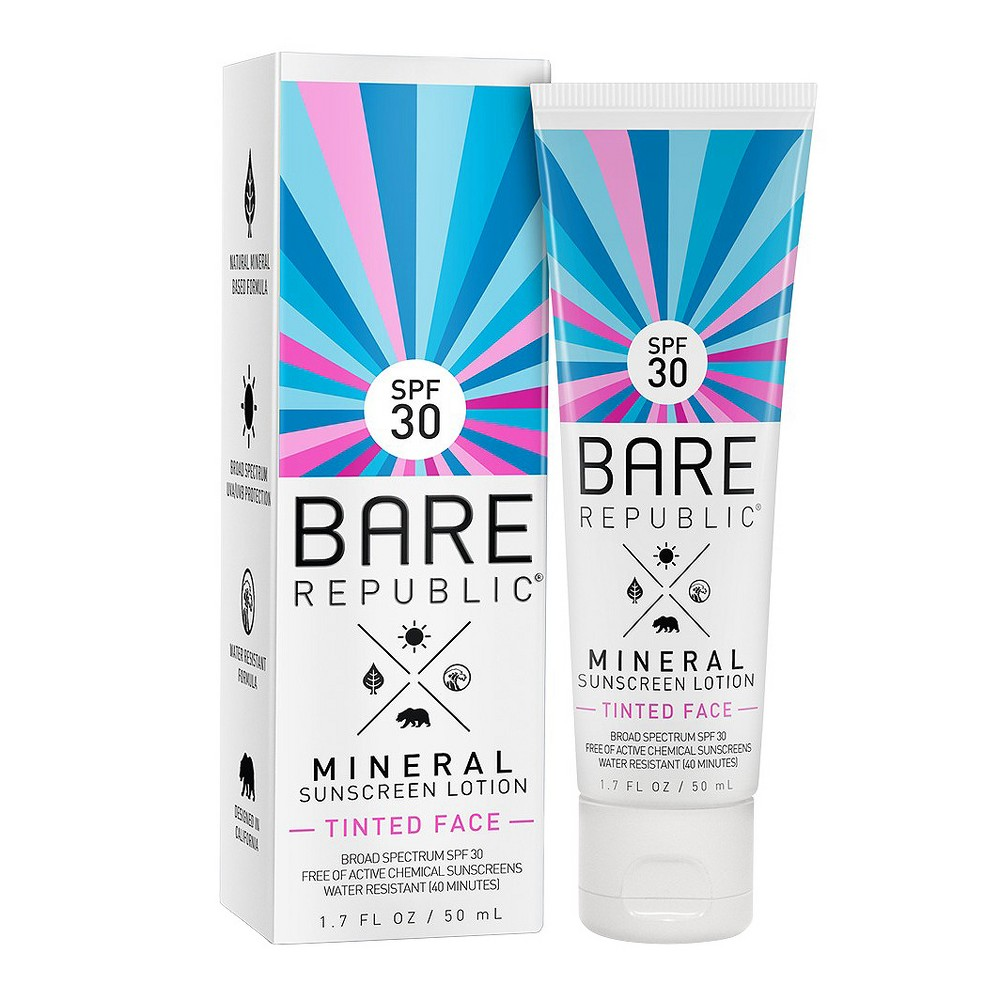 Bare Republic Mineral Tinted Face Sunscreen Lotion - Spf 30 - 1.7oz