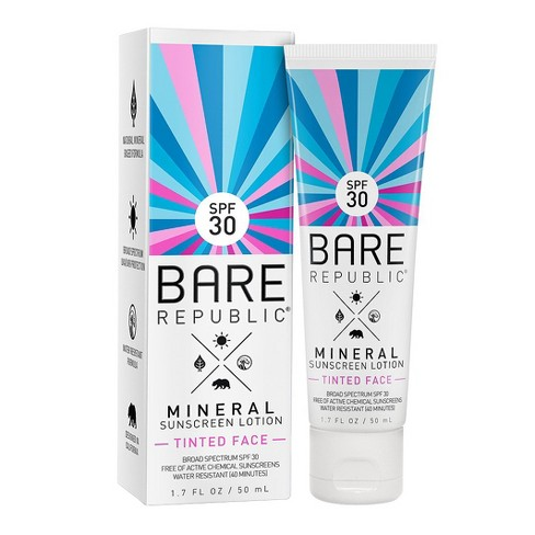 Bare Republic Mineral Tinted Face Sunscreen Lotion - SPF 30 - 1.7oz - image 1 of 1