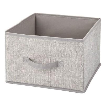 mDesign Soft Fabric Closet Storage Organizer Cube Bin, 2 Pack