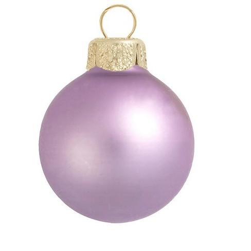 "Northlight 6ct Matte Glass Ball Christmas Ornament Set 4"" - Soft Lavender Purple - image 1 of 1"