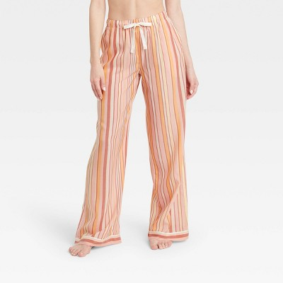 Women's Striped Simply Cool Wide Leg Pajama Pants - Stars Above™ Pink