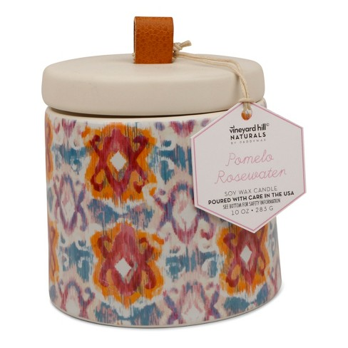 Container Candle Pomelo Rosewater 10oz - Vineyard Hill Naturals by Paddywax - image 1 of 2