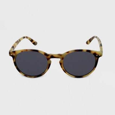 Women's Tortoise Shell Print Round Sunglasses - Wild Fable™ Brown