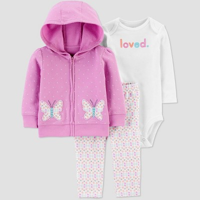 Baby Girls' Butterfly Top & Bottom Set - Just One You® made by carter's Lilac 6M