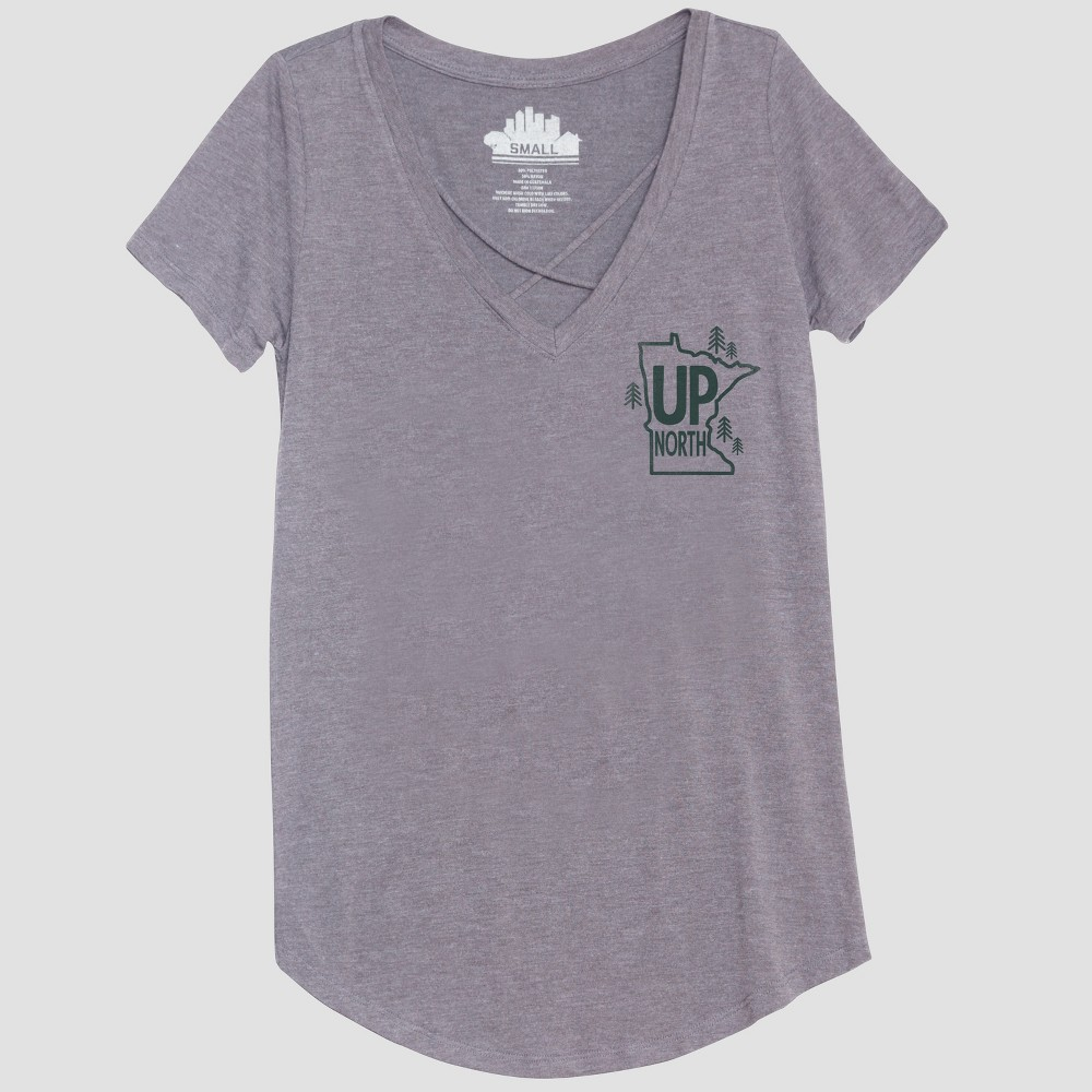 Women's Short Sleeve Up North Graphic T-Shirt - Awake Heather Gray M
