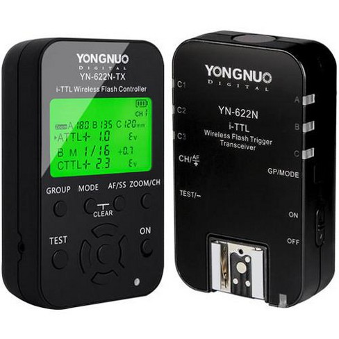 Yongnuo YN-622N-TX Wireless E-TTL Flash Trigger Kit with LED for Nikon Cameras - image 1 of 4
