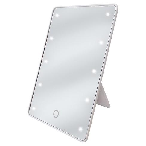 Ginsey Sharper Image Led Sensor Mirror With Easel Back Target