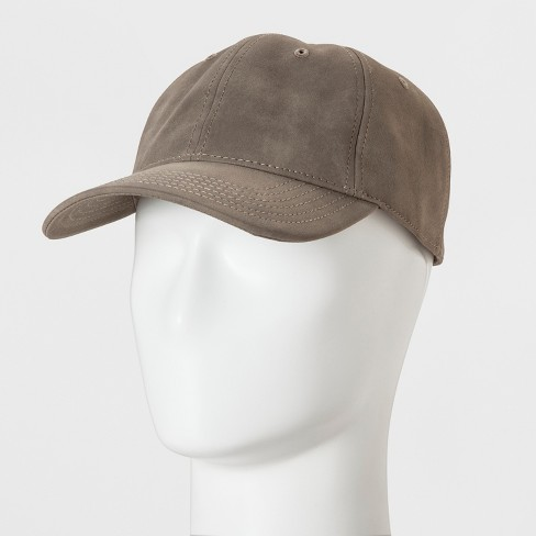 Men's Suede 6 Panel Baseball Hat - Goodfellow & Co™ One Size - image 1 of 3