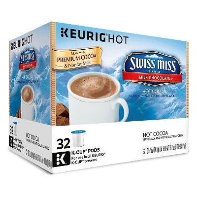 Swiss Miss Milk Chocolate Hot Cocoa - Keurig K-Cup Pods - 32ct
