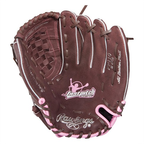 "Rawlings 11"" Softball Fastpitch Glove - Brown/Pink - image 1 of 1"