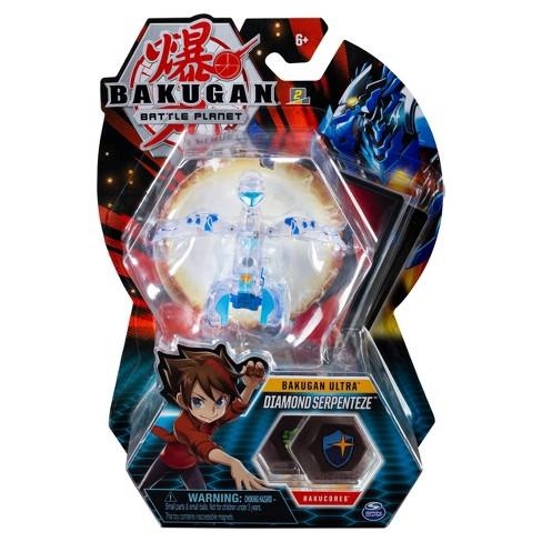 "Bakugan Ultra Diamond Serptenteze 3"" Collectible Action Figure and Trading Car - image 1 of 4"