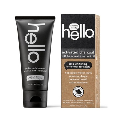 Toothpaste: Hello Activated Charcoal