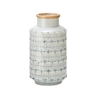 Ceramic Decorative Vase Medium - Gray