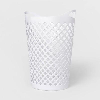2.2bu Flexible Laundry Hamper White - Room Essentials™