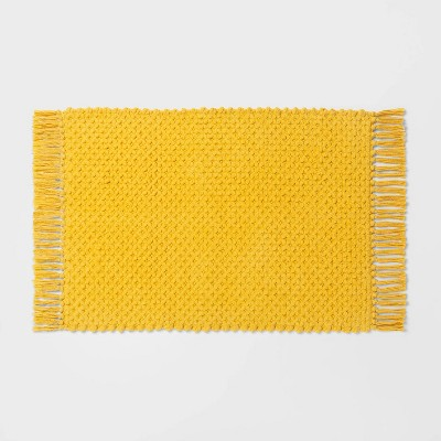 Fringe Bath Rug Yellow - Threshold™