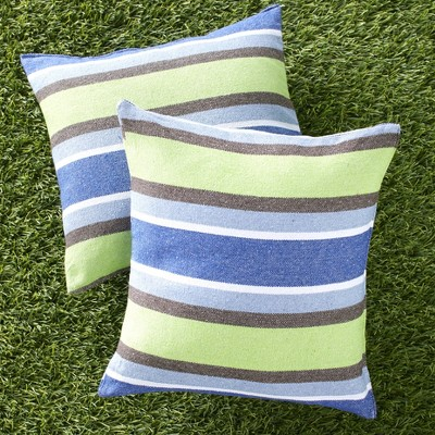 Lakeside Outdoor Patio Furniture Throw Pillows Set - Set of 2