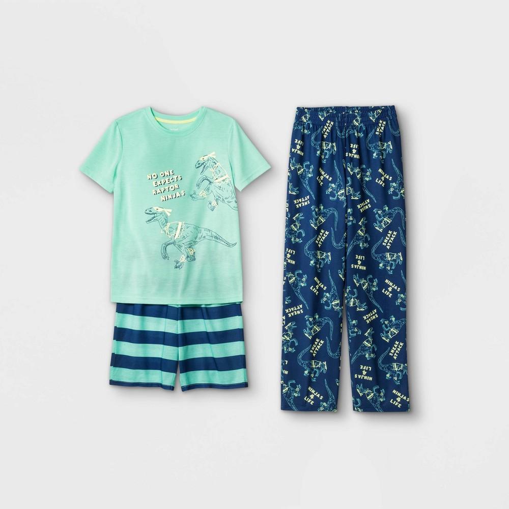 Boys 39 3pc Dino Pajama Set Cat 38 Jack 8482 Green Xs