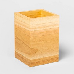 Rubberwood Kitchen Utensil Holder Brown - Threshold™